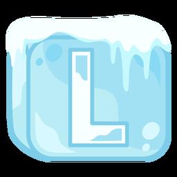 Letra de cubo de hielo l