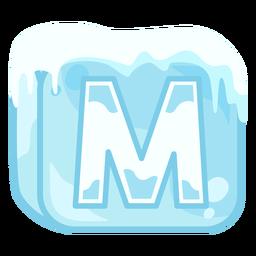 Cubo de hielo letra m
