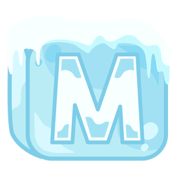 Ice cube letter m