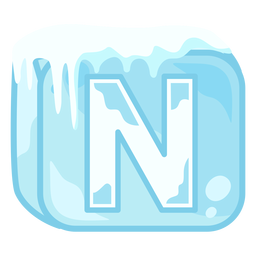 Ice cube letter n