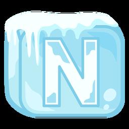 Letra de cubo de hielo n