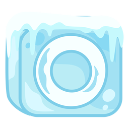 Cubo de hielo letra o