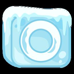 Letra de cubo de gelo o