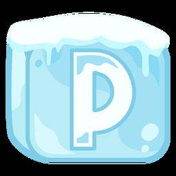 Cubo de hielo letra p