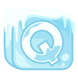 Cubo de hielo letra q
