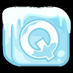 Letra de cubo de hielo q