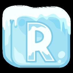 Letra de cubo de hielo r
