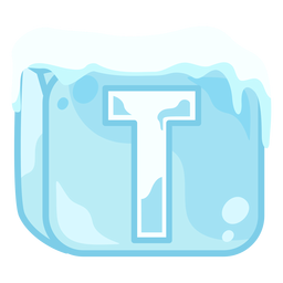 Cubo de hielo letra t