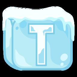 Letra de cubo de hielo t