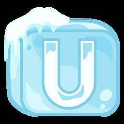 Letra de cubo de hielo u