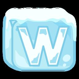Letra de cubo de hielo w