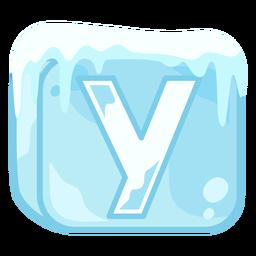 Cubo de hielo letra y