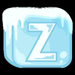 Cubo de hielo letra z