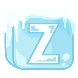 Letra z de cubo de hielo