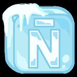 Carta de cubo de gelo ñ