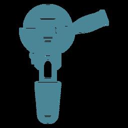 Amoladora angular azul