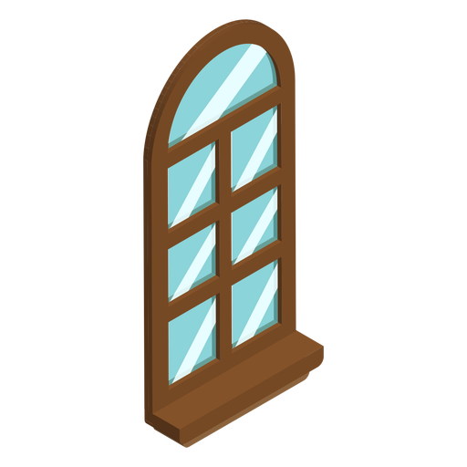 Arched shaped window isometric