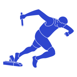 Atleta azul