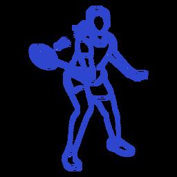 Curso de jogador de badminton