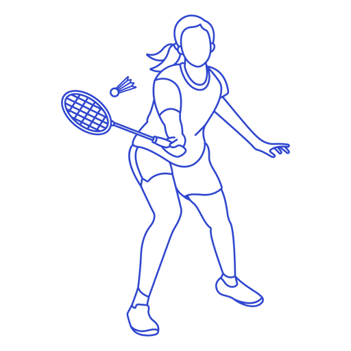 Badminton player stroke