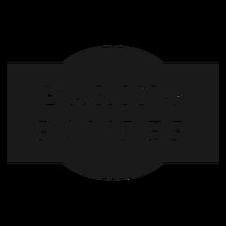 Baking powder label