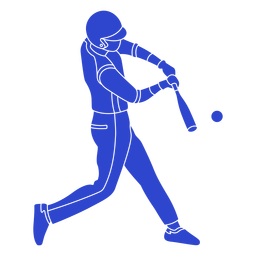 Baseball player blue