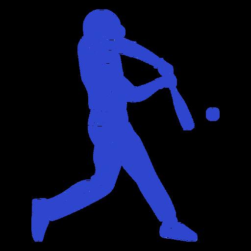 Jogador de beisebol azul