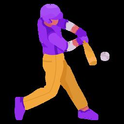 Baseball player flat