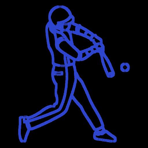 Baseball player stroke