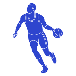 Basketball player blue