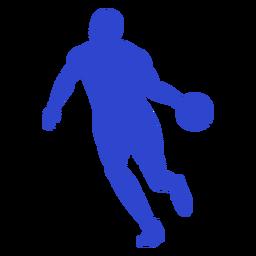 Jugador de baloncesto azul