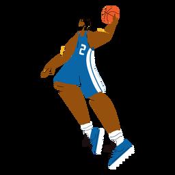 Personaje de jugador de baloncesto