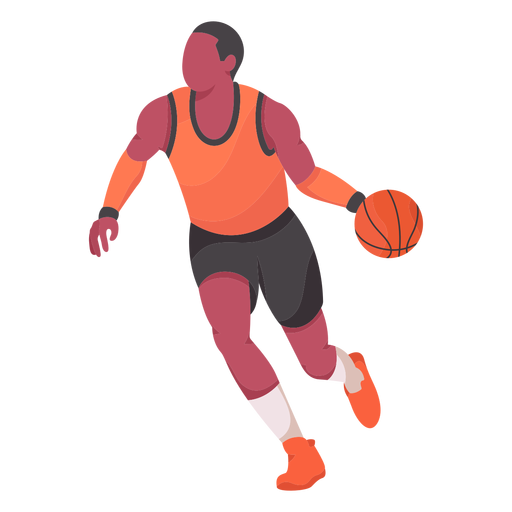 Basketball player flat