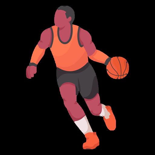 Jugador de baloncesto plana