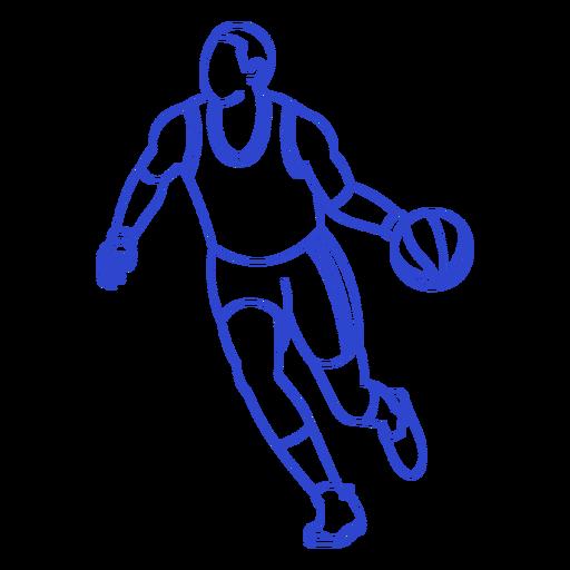Golpe de jugador de baloncesto