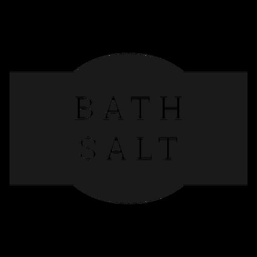 Bath salt label Transparent PNG