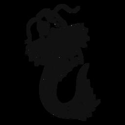 Koi grande peixe preto e branco