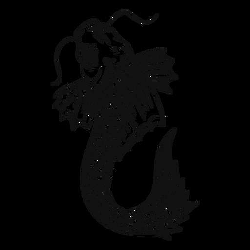 Big koi fish black and white Transparent PNG