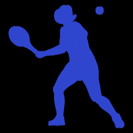 Blue tennis player