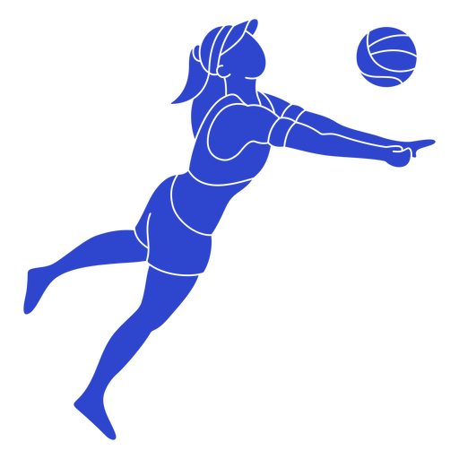 Blue volleyball player