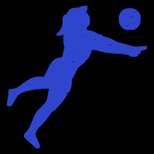 Jogador de voleibol azul Transparent PNG