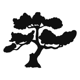 Silueta del árbol de los bonsais