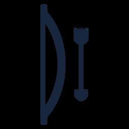 Icono de arco y flecha azul