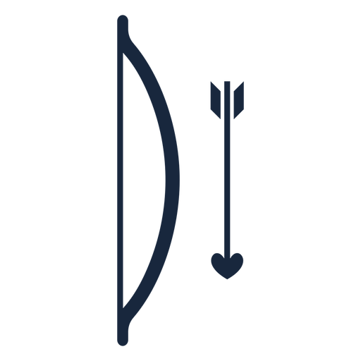 Bow and arrow blue icon Transparent PNG