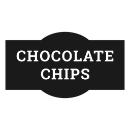 Chocolate chips label