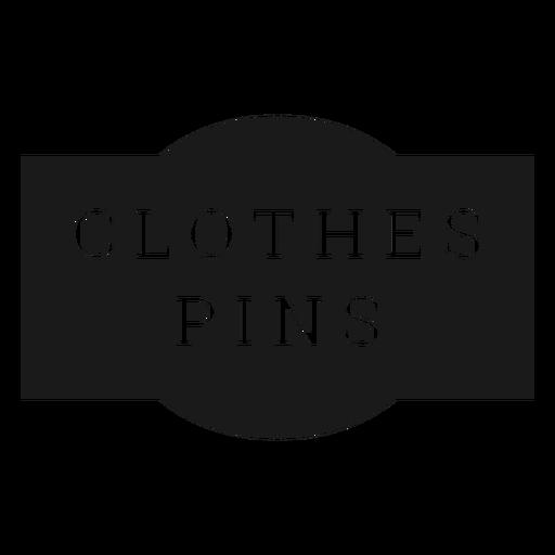 Clothes pins label Transparent PNG