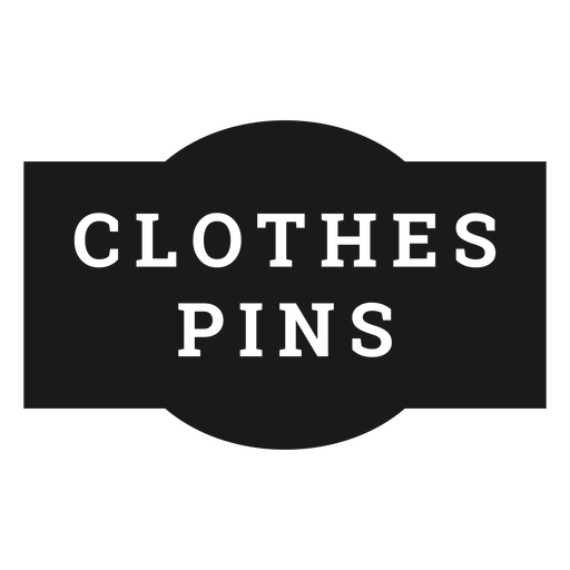 Etiqueta de alfileres de ropa