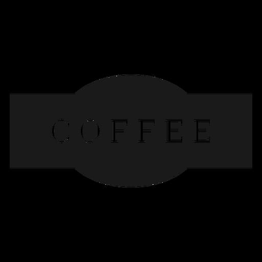 Etiqueta de café Transparent PNG