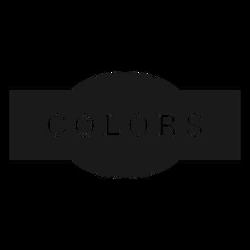 Colors label