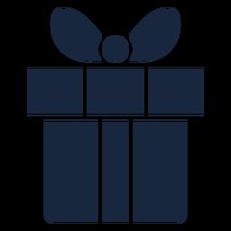Cute present blue icon